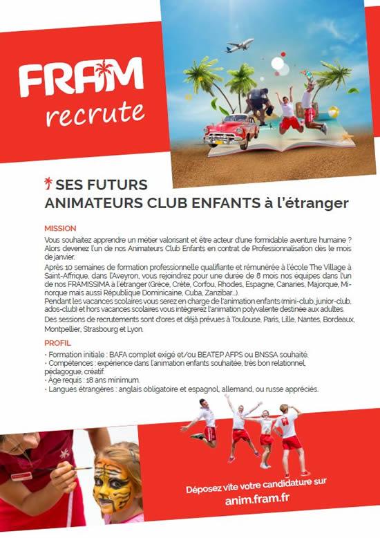Recrutement Contrat Pro 2020 Animateur