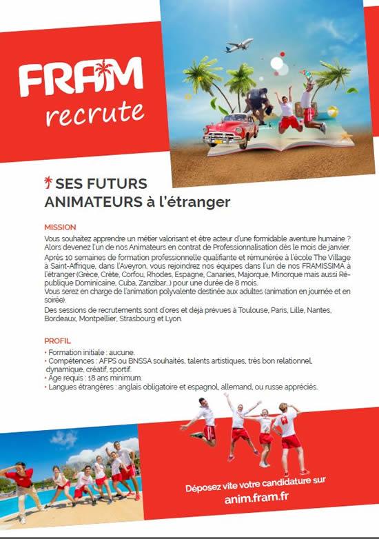 Recrutement Contrat Pro 2020 Animateur Club Enfant